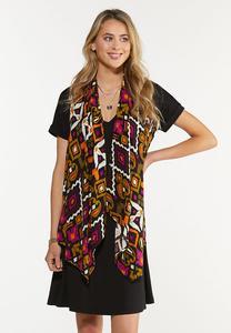 Plus Size Tribal Vest