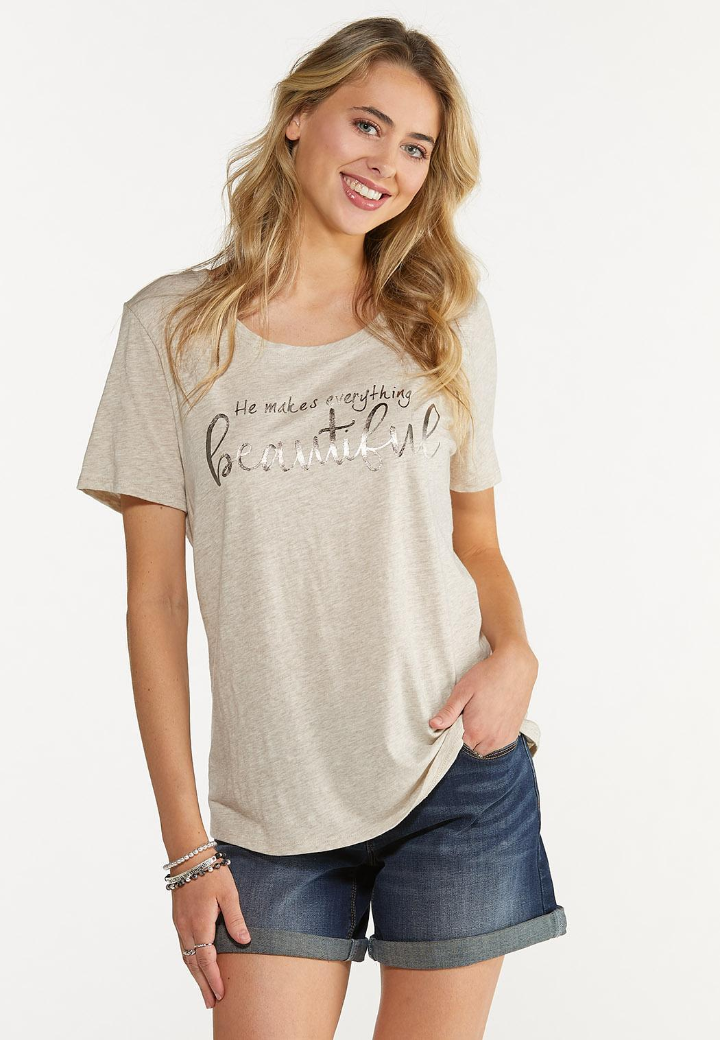 Plus Size He Makes Everything Beautiful Tee