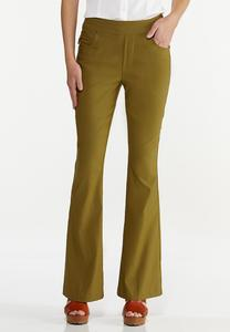 Solid Bengaline Flare Pants