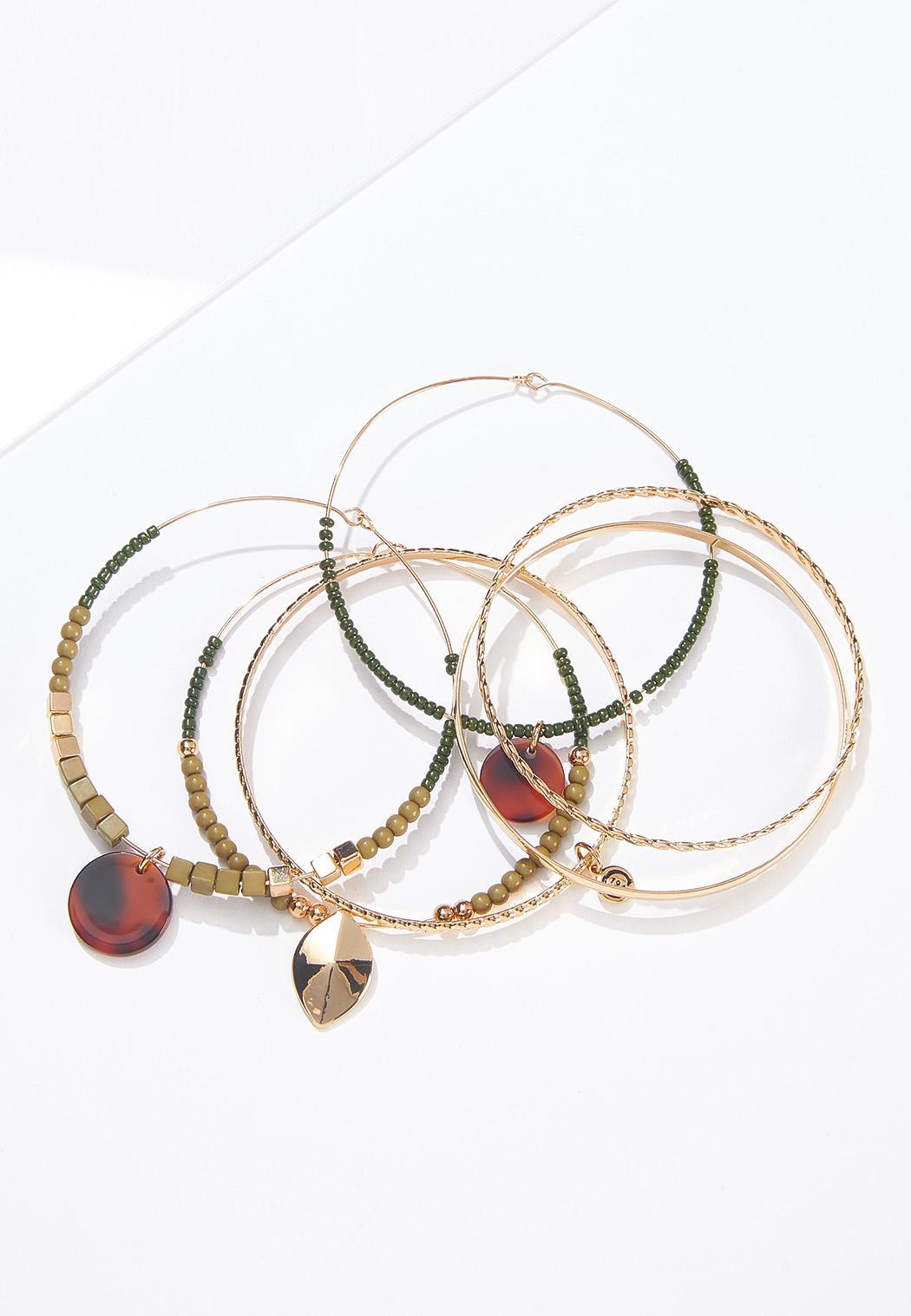 Beaded Bangle Bracelet Set