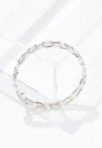 Pearl Stone Coil Bracelet