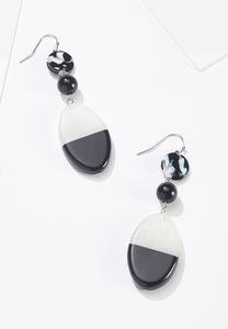 Resin Colorblock Earrings
