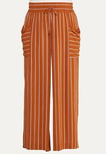 Plus Size Striped Wide Leg Pants