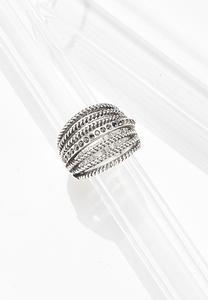 Layered Metal Statement Ring