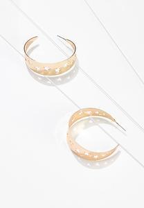 Cutout Star Hoop Earrings