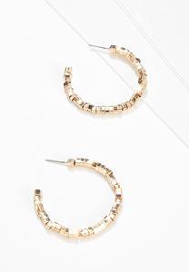 Glitzy Gold Hoop Earrings