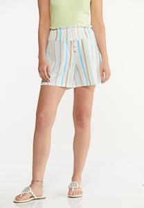 Gauzy Summer Stripe Shorts