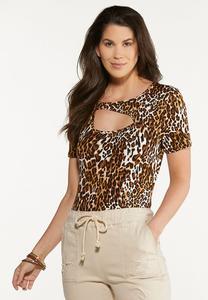 Leopard Cutout Bodysuit