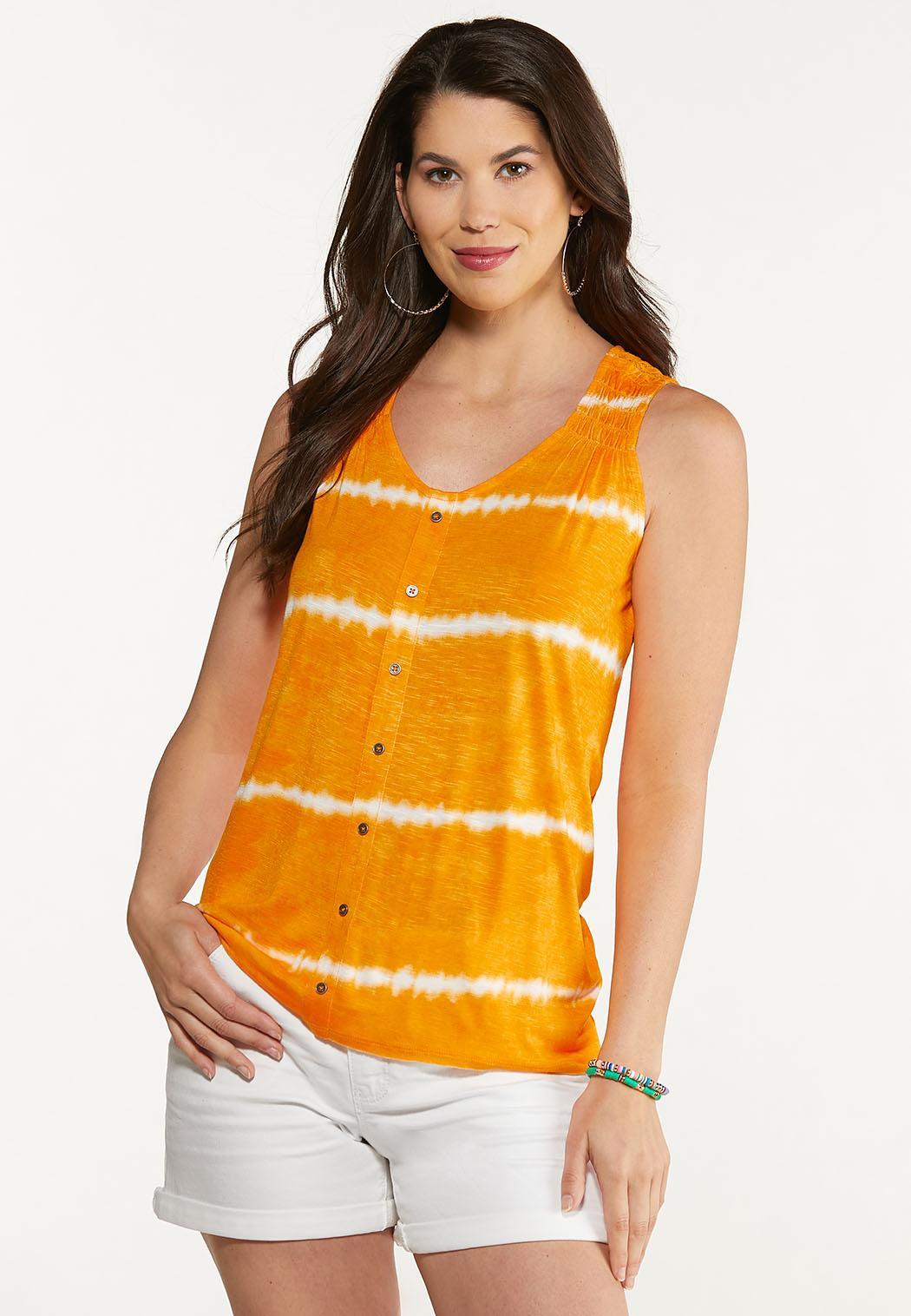Plus Size Citrus Tie Dye Tank