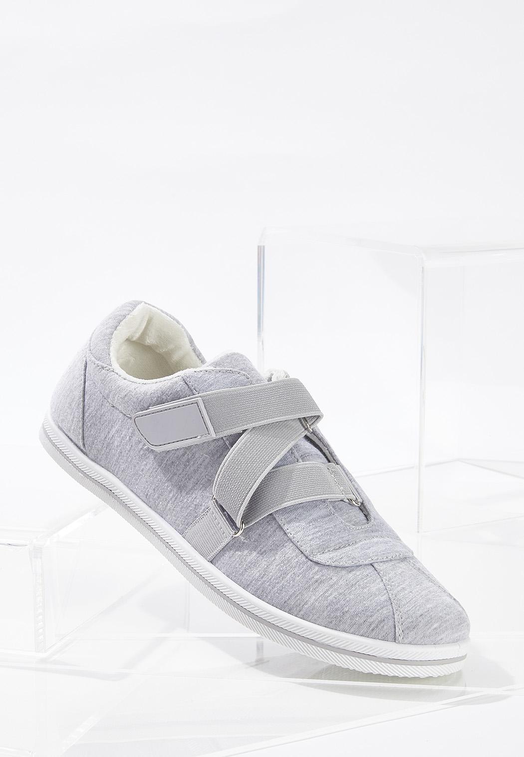 Velcro Strap Gray Sneakers