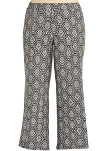 Mosaic Diamond Print Palazzo Pants- Plus