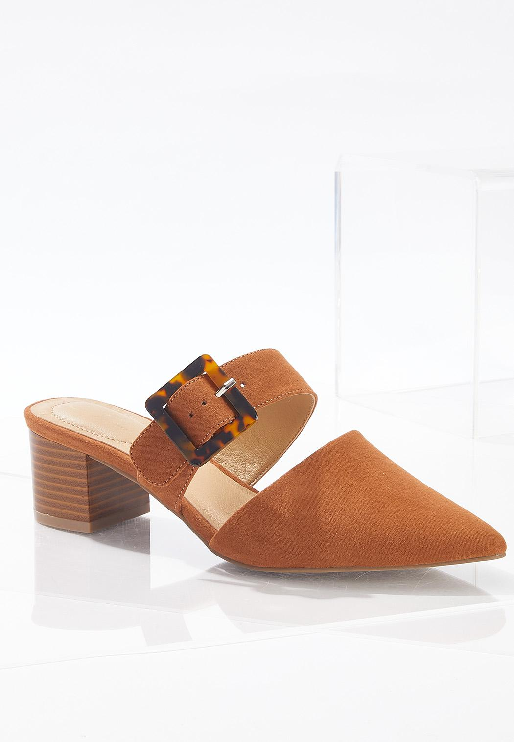 Buckle Band Pointy Toe Heels