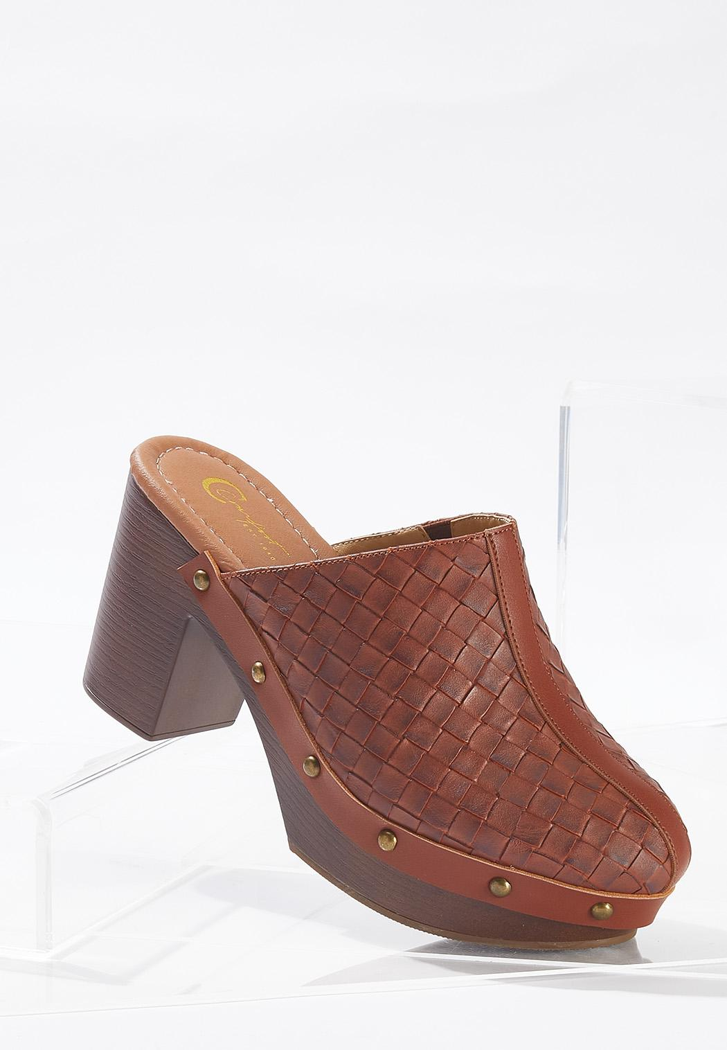 Woven Chunky Clogs