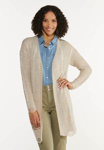 Distressed Cardigan Sweater