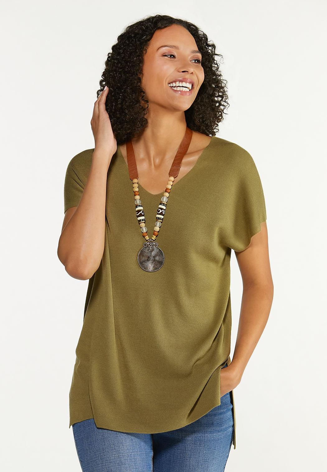 Plus Size Relaxed V-Neck Sweater