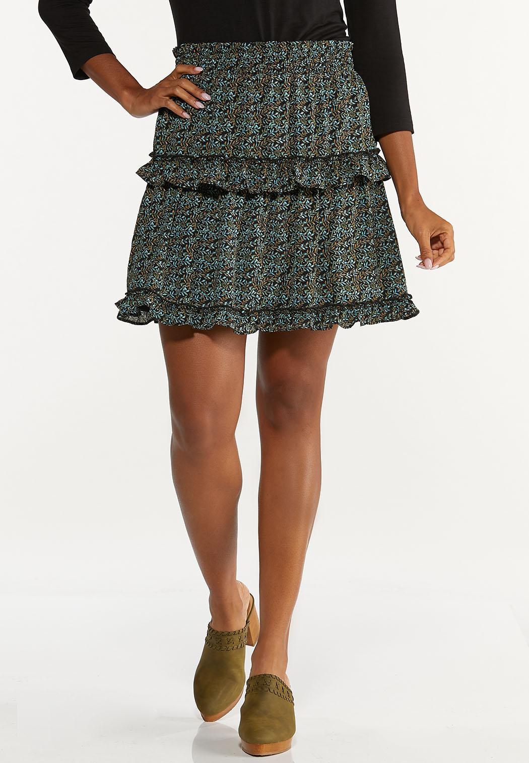 Tiered Ruffled Mini Skirt