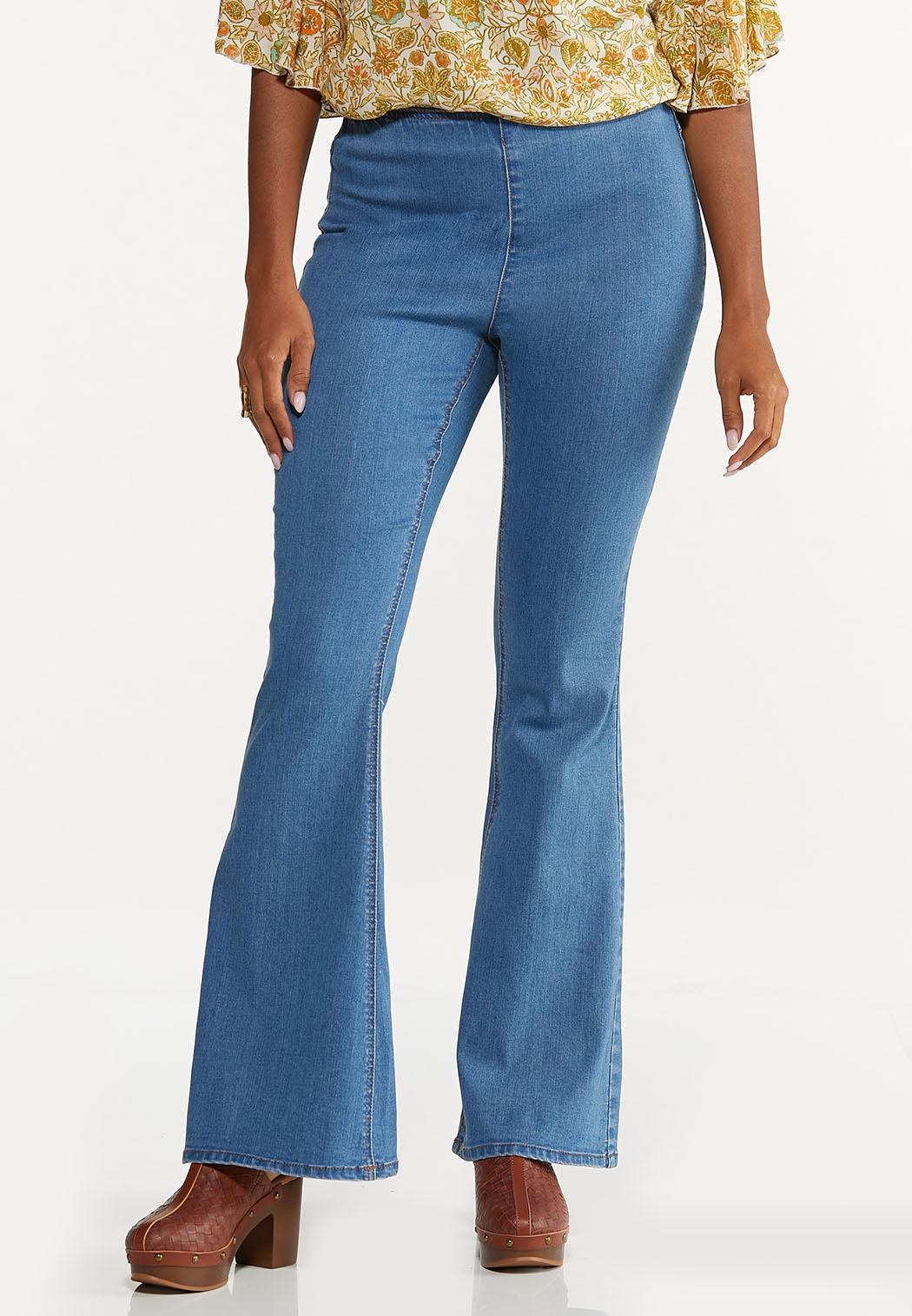 Petite Pull-On Flare Jeans