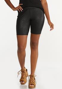 Coated Biker Shorts