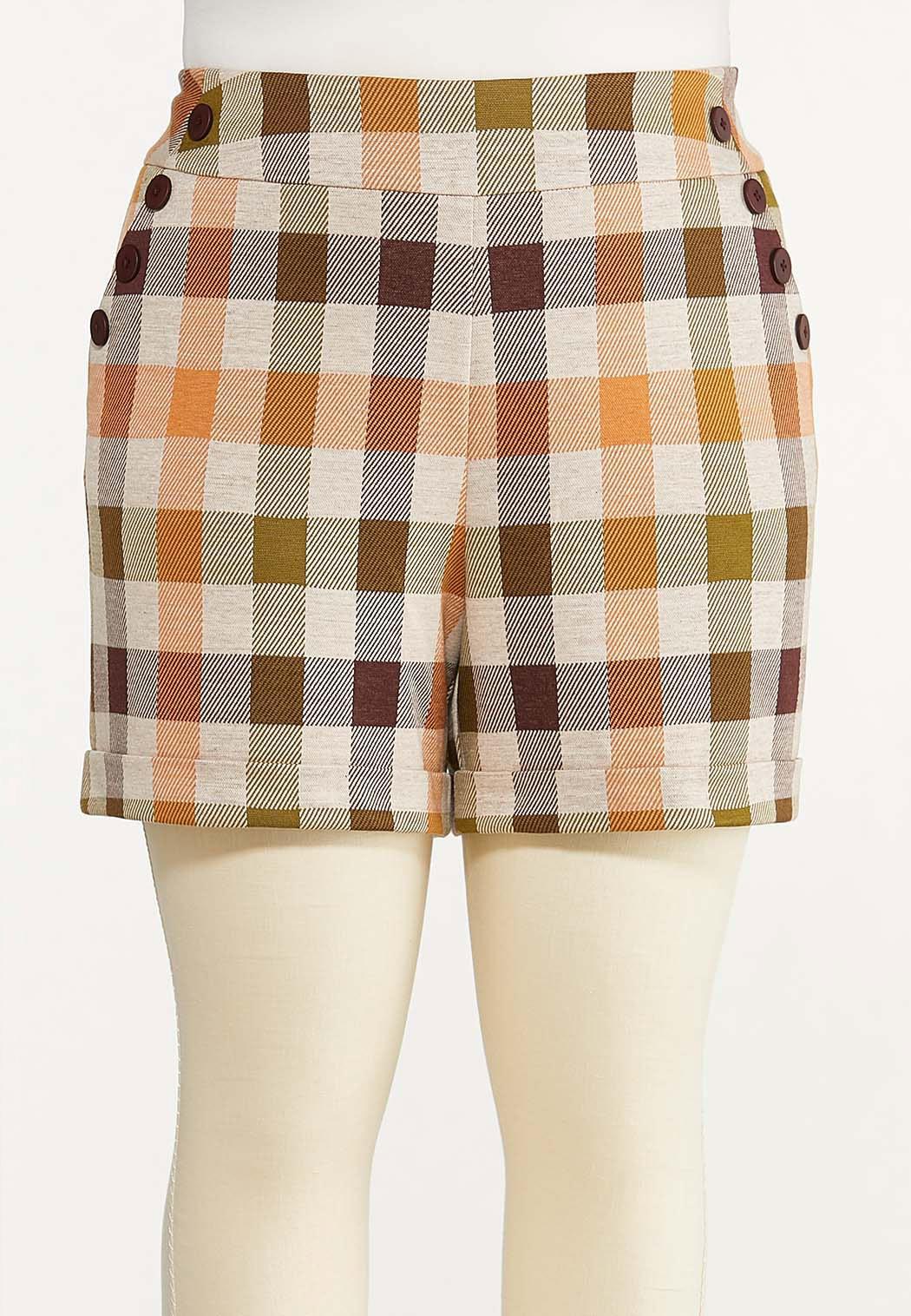 Plus Size Harvest Plaid Shorts