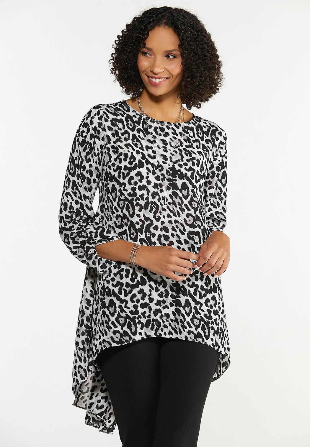 Leopard High-Low Tunic