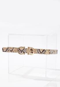Plus Size Double Ring Snakeskin Belt