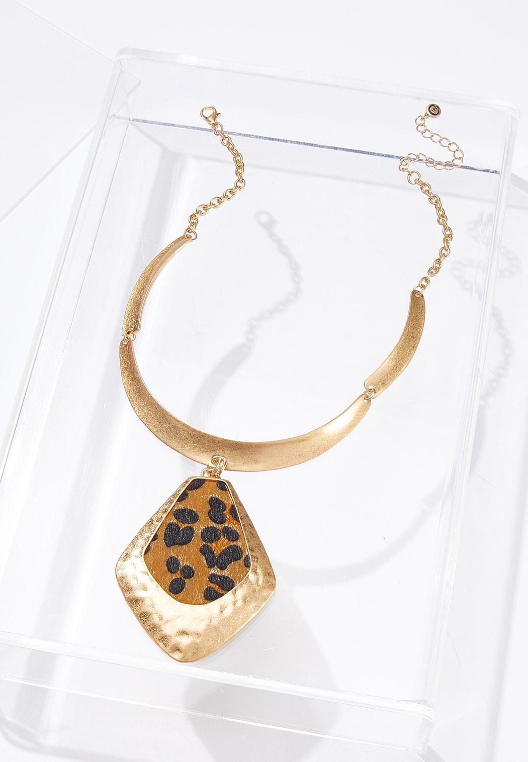 Gold Leopard Pendant Necklace