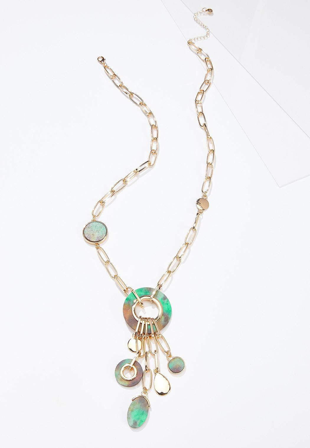 Painted Wood Chain Necklace