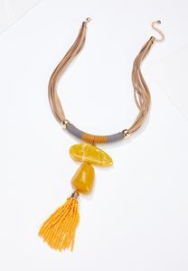 Gold Pendant Statement Necklace