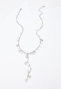 Pearl Disc Y-Necklace