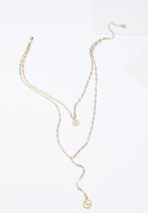 Delicate Gold Layered Y-Necklace