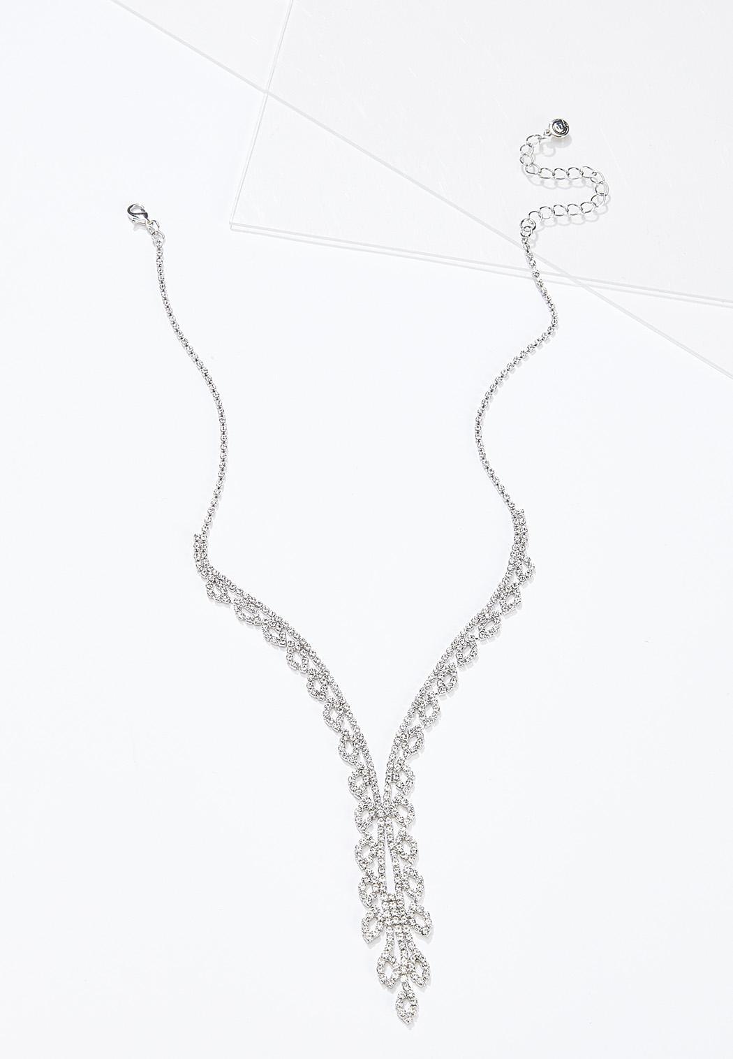 Rhinestone Y-Necklace