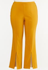 Plus Size Slit Hem Bootcut Pants