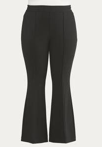 Plus Size Pintucked Ponte Pants