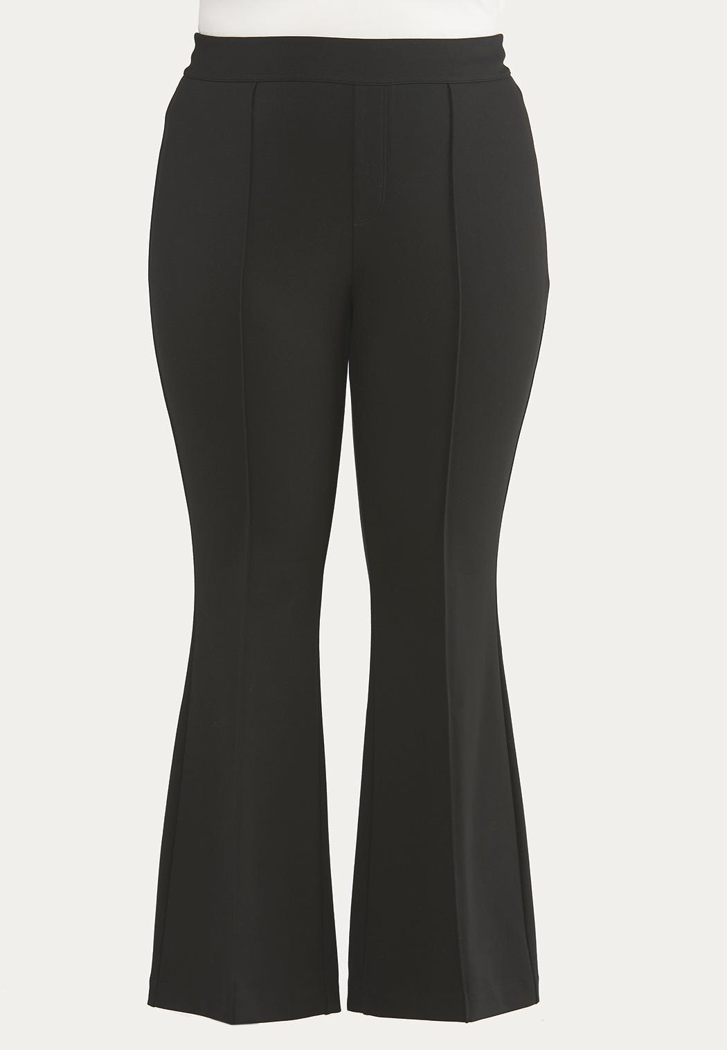 Plus Petite Pintucked Ponte Pants