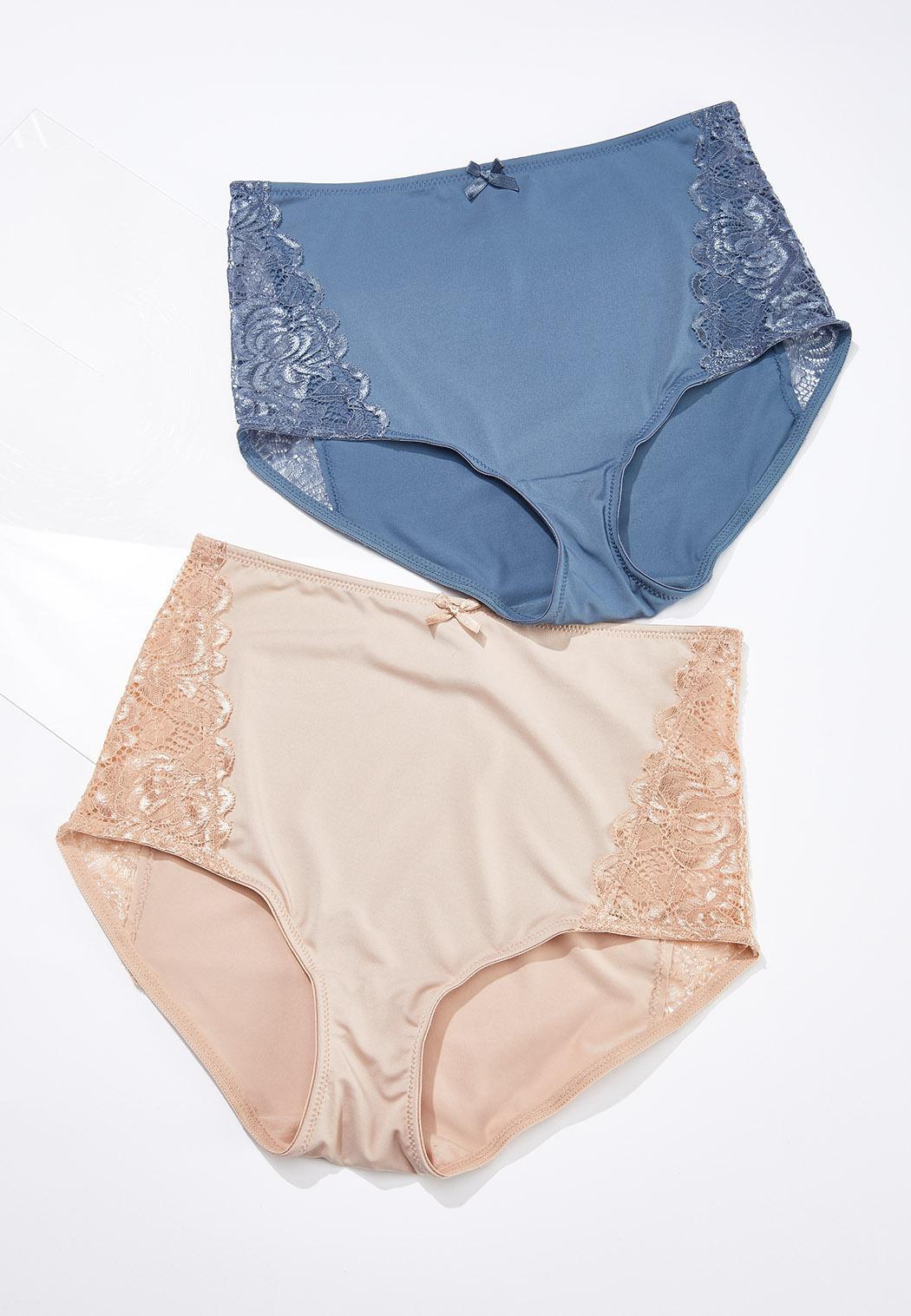 Plus Size High Waist Brief Panty Set