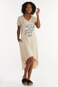 Plus Size Let The Good Times Roll Shirt Dress