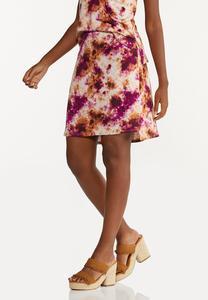 Plus Size Tie Dye Mini Skirt