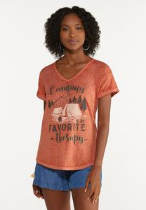Plus Size Camping Therapy Tee