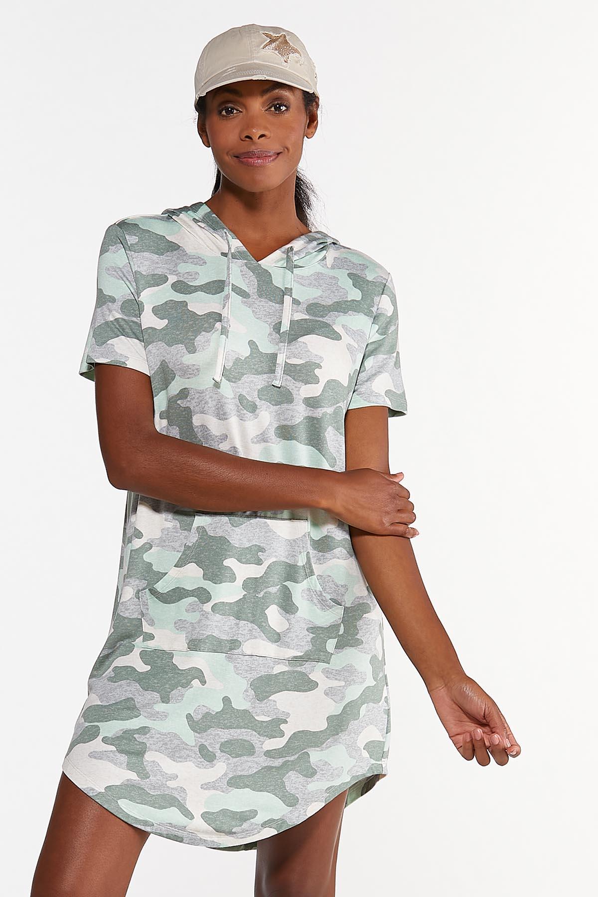 Plus Size Camo Active Dress