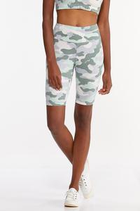 Camo Biker Shorts