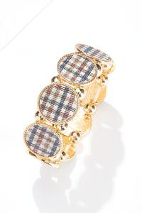 Circle Plaid Bracelet