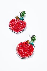 Beaded Strawberry Earrings
