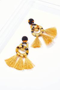 Golden Tort Tassel Earrings