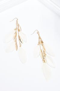 Delicate Metal Feather Earrings