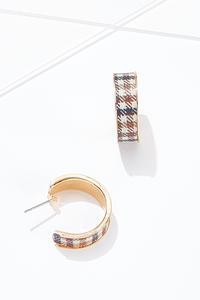 Plaid Hoop Earrings