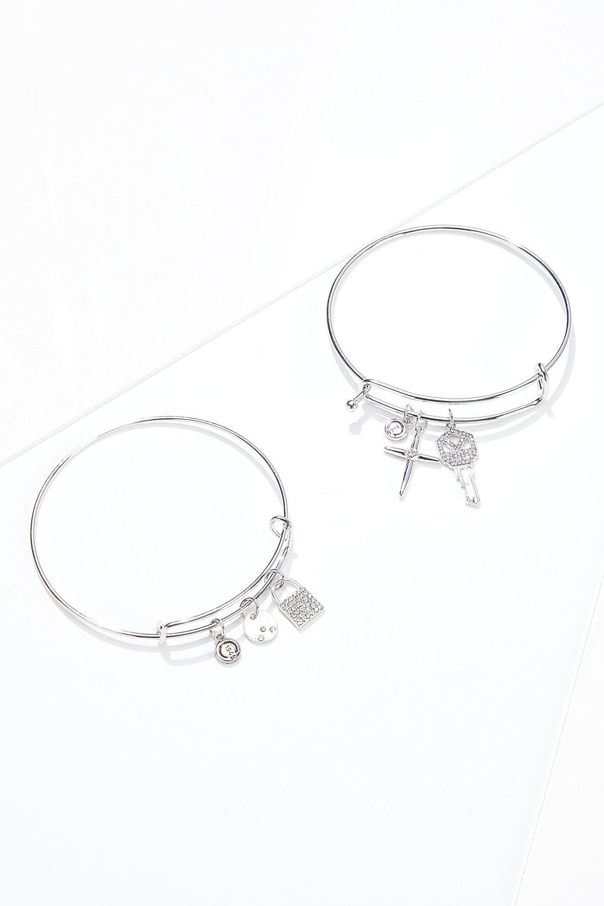 Cross Key Charm Bracelet Set