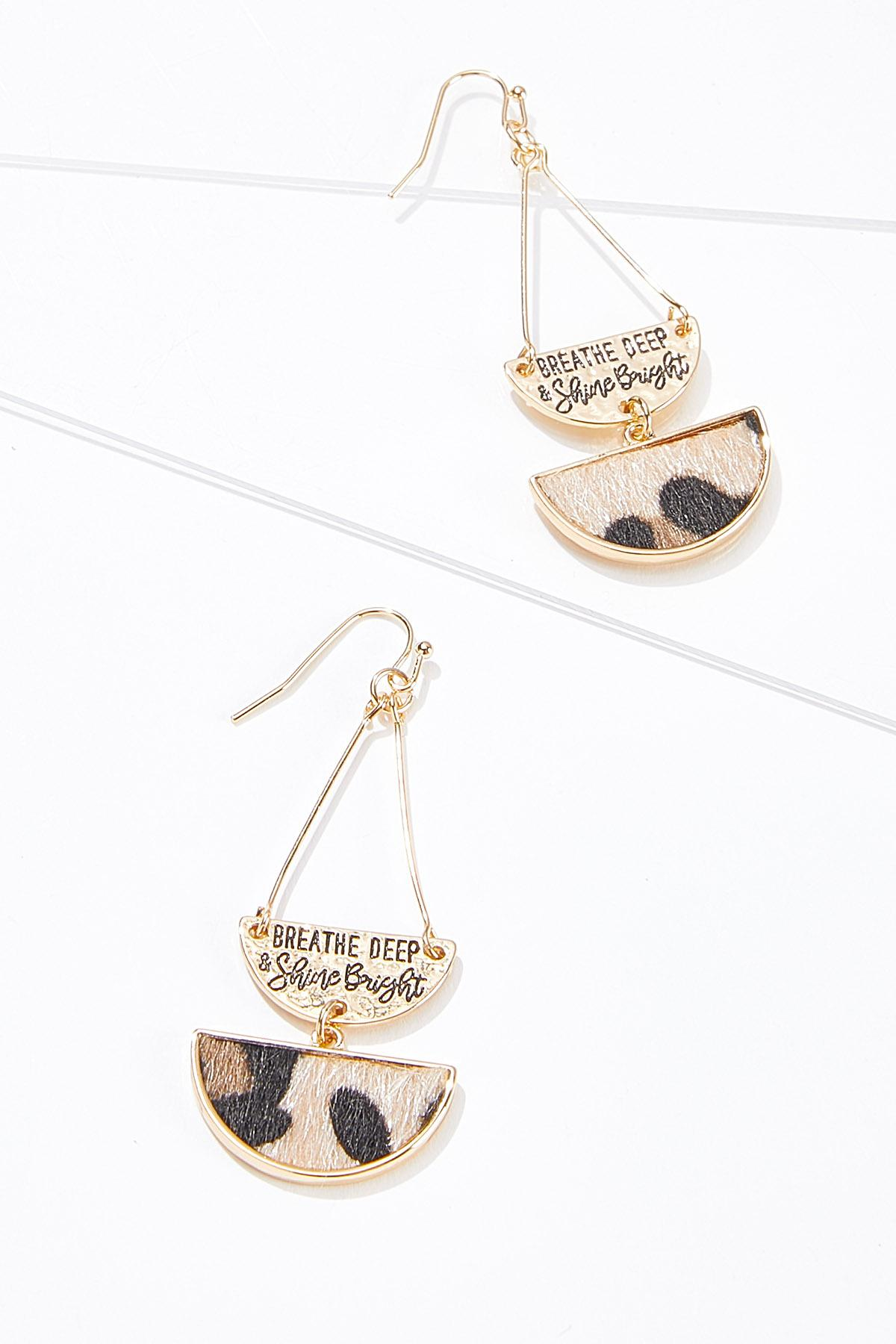 Textured Uplifting Quote Earrings