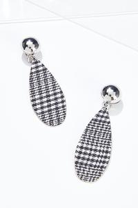 Houndstooth Clip-On Earrings