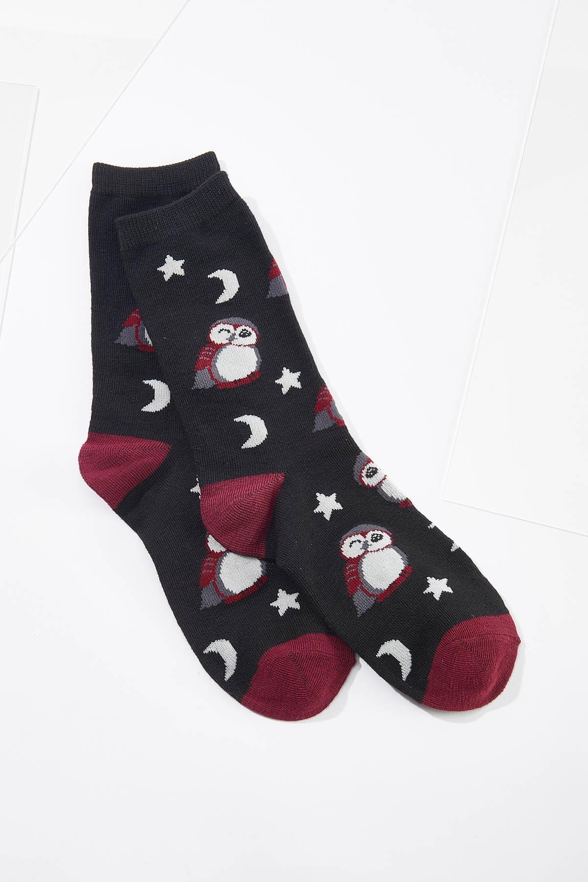 Moonlight Owl Socks