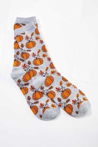 Fall Pumpkin Socks